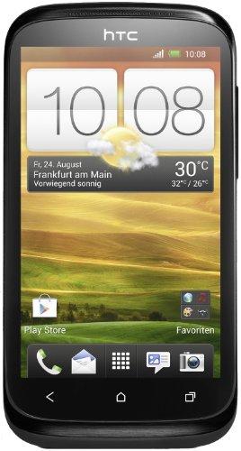 HTC Desire X Smartphone (1 GHz Dual-Core Prozessor, 10,2 cm (4 Zoll) Touchscreen, 5 Megapixel Kamera, 4 GB interner Speicher, microSD-Kartenslot, Android 4.0.4) stealth schwarz Android 4.0.4 Dual-core