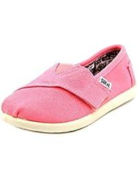 Toms - Zapatos Tipo Alpargatas de Lona Color Rosa Estilo Clásico para Niñas