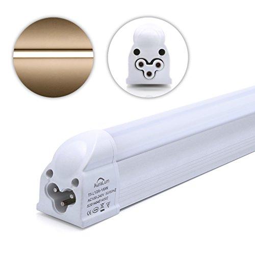 2 X Auralum® 60/90/120CM T5 16W LED Röhre Tube Leuchtstoffröhre Rohre Warmweiß(2800-3200K)Unterbauleuchte Lampe Licht Leuchtstofflampe Innenbeleuchtung