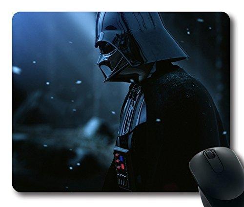 Custom Gaming Maus Pad mit Darth Vader Armor Star Wars Film Hat Snow rutschfestem Neopren Gummi Standard Größe 22,9cm (220mm) X 17,8cm (180mm) X 1/20,3cm (3mm) Desktop Mousepad Laptop Mousepads bequem Computer Mauspad