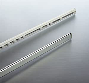 Spirella surprise tringle extensible ovale pour rideau de douche rail cach aluminium blanc - Tringle de douche extensible ...