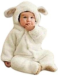 Tefamore La Ropa Bebé del Mameluco de Escalada Estilo de los animales Otoño Invierno para Niños