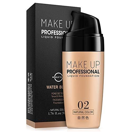 ZUZU Crema De Base Facial Resistente Al Agua Corrector von Larga Duración Líquido Maquillaje Professionelle Cobertura Completa Base Mate Maquillaje (De 32 Tv Plasma)