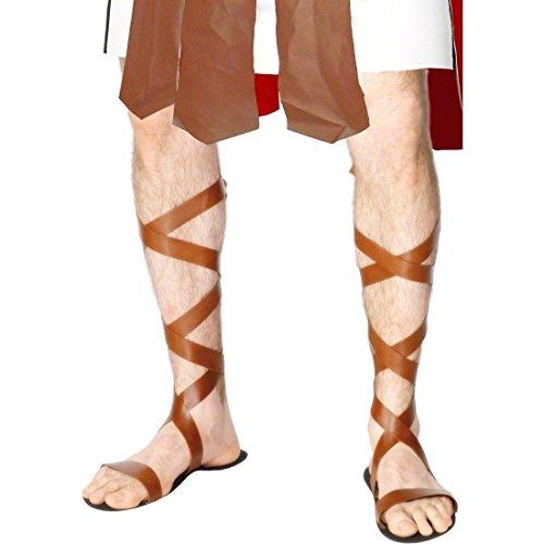 Römer Sandalen Römersandale braun Römersandalen Römer Sandale Legionär Kostüm (Kostüm Römische Braun Sandalen)