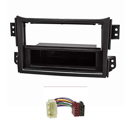 tomzz Audio 2439-104 Radioblende Set für Opel Agila B Suzuki Splash schwarz mit Radioadapter ISO