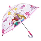 Parapluie Fille Princesses Disney Transparent - Cloche Enfant Solide et Résistant au...
