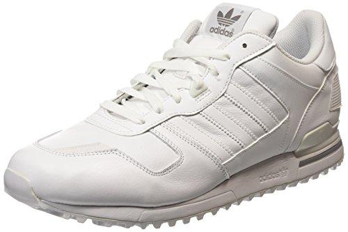 adidas ZX 700, Baskets Basses Mixte Adulte Blanc (White/White/Aluminum)