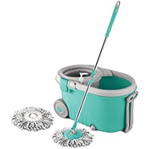 (Renewed) Spotzero By Milton Elegant Spin Mop, Aqua Green