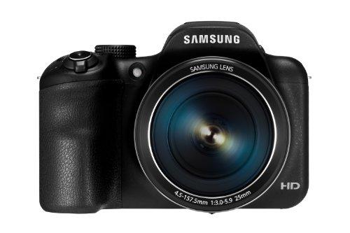 """Samsung WB1100F - Fotocamera digitale, 16 Megapixel, Zoom ottico 35x, schermo da 7,6 cm (3""""), colore: Nero"""