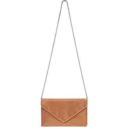 Bronze TA357 große Abendtasche Envelope Tasche Clutch CASPAR Glitzer elegante Damen 1zxwdnqv6