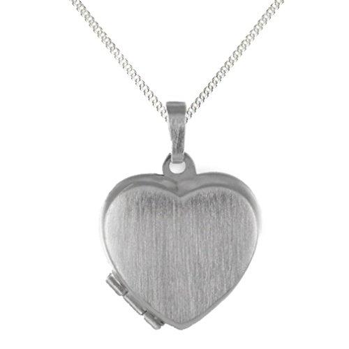 Anhänger Medaillon Herz 925 Silber Herzform zum öffnen/Bildeinlage für 2 Bilder (mit Kette)