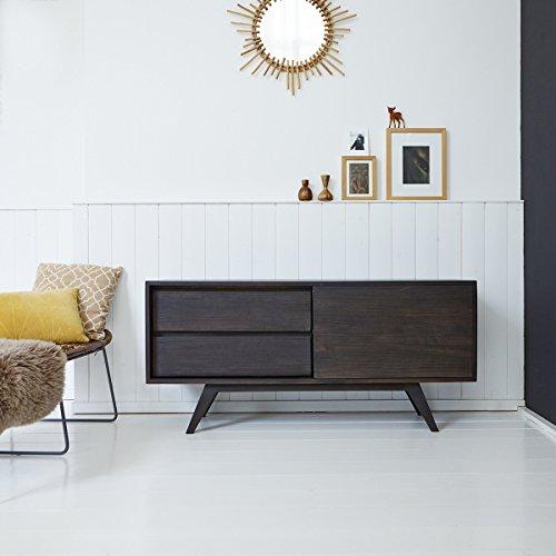 Tikamoon Moka Buffet TV - Bois - Marron - 130 x 35 x 60 cm