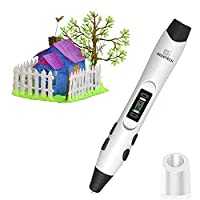 3D Pen, GEEETCH 3D Printer Pens With 8 different speed levels and temperature adjustment function, 3D Pen Intelligent LCD screen compatible with PLA/ABS filament 1.75mm.