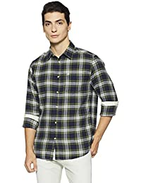 Jack & Jones Men's Checkered Regular Fit Casual Shirt