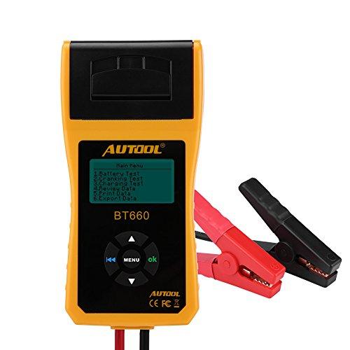 Batterietester/Analysegerät/Batterietester für Autobatterie, 12 V, digital, mit mehrsprachigem Drucker