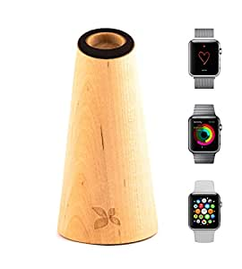 Klee-Dock: Die Design Apple Watch Dockingstation - Ladestation - Dock - Stand (Birke)