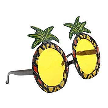 SODIAL Hawaiian Strand Sonnenbrille Ananas Brille Hen Night Stag Party Kostuem Party Event Supplies Ananas Glaeser