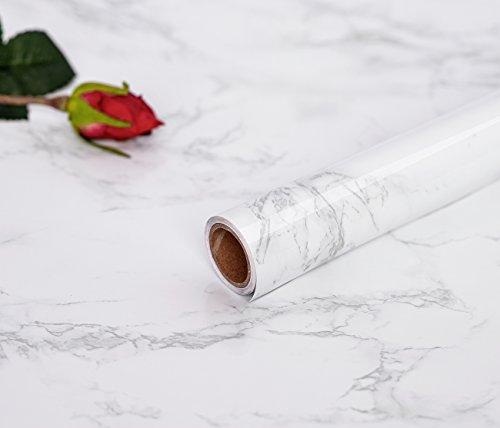 45 cm × 200 cm pellicola autoadesiva in vinile adesivi impermeabilecarta pergamena in marmo materiale pvc pellicola autoadesiva cucina decorazione adesivo fai da te vinile carta da parati autoadesiva ( 17.7