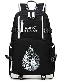 5f657419d277f Cosstars Monster Hunter Spiel Leuchtend Backpack Schüler Schultasche Laptop  Rucksäcke Freizeittasche Daypack