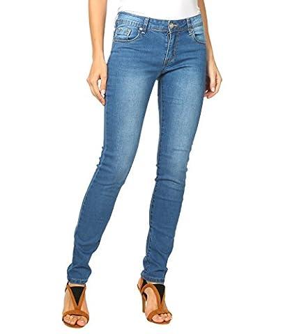 5332-BLU-16: Jeans Skinny Délavé (Bleu