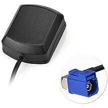 "Eightwood Antena GPS Fakra ""C"" Adaptador ángulo recto con 3m GPS Fakra Antena para VW Golf Sistema de navegación GPS AUDI Receptores GPS Coche DVR Módulo GPS Antena de seguimiento"
