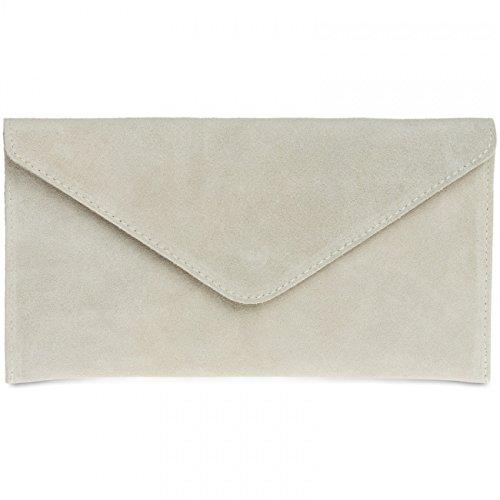 caspar-tl708-damen-wildleder-envelope-clutch-farbebeigegrosseone-size