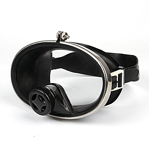 LBAFS Masque De Plongée Professionnel Anti-buée Grande Vision Silicone Verre Trempé Masque Miroir Plat Natation