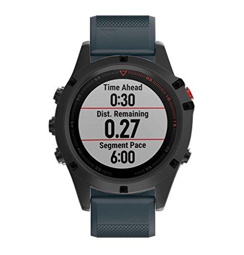 Sosofish Fenix 5X GPS Uhr Silikon Kit Uhrenband Weich Schnell Schwarz Riemen Uhrenband weiche Silikonuhr Mode Heiß Uhr Intelligenz (marineblau)