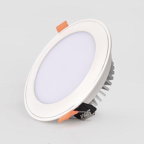 Splindg Moderne Einbauleuchte Downlight Aluminium LED Deckenleuchte 3W 5W 7W Round Cob Spotlight Warmweiß Kaltweiß Natural White Light Fixture (Color : Warm White, Größe : 4 inches 7W) (Glühlampen-einbauleuchten Fixture)