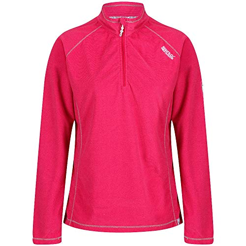 Regatta Montes Damen Fleece-Fleece, mit halbem Reißverschluss XXL Dunkle Kirsche Raglan-microfleece-pullover