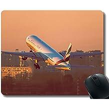 Yanteng Alfombrilla de ratón antirresbaladiza de Mousepad, Alfombrilla para ratón de Aviones Boeing 777 de