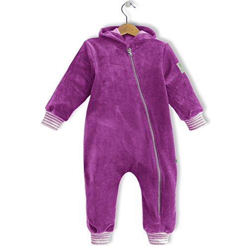 bubble.kid berlin - Baby Mädchen Jungen Unisex Anzug Overall Einteiler - weicher kuscheliger Nicki, Größe 74/80 (6-12 Monate), Farbe: cyclam
