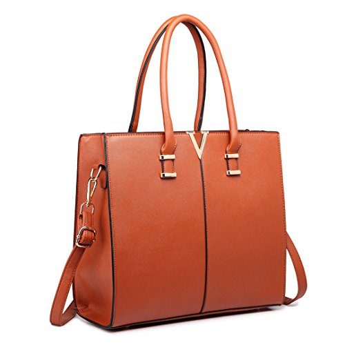 Miss Lulu, Borsa a spalla donna medium 1666 Brown