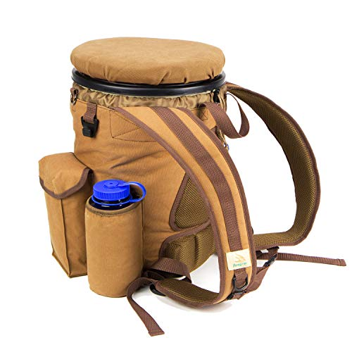 Peregrine Feild Gear PFG-VBP3B-BRN Venture Hunting Bucket Backpack Combo, Brown Canvas - Canvas Trapper