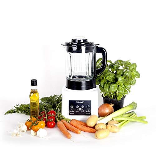 Duronic BL89 elektrischer Standmixer/Hochleistungsmixer/Suppenbereiter/Babynahrungszubereiter/Dampfgarer/Smoothie Maker und Kochmixer mit 1,75L Glasbehälter