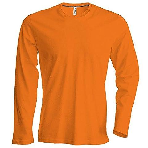 Kariban-shirt à manches longues et col rond pour homme