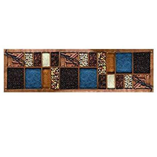 Teppichläufer/ Küchenläufer/ maschinenwaschbar/ Küchenteppich/ Läufer, 52 x 180cm, anti-milben und rutschfest, teppich küchenläufer gewürze muster, 100% Made in Italy, Teppichläufer mit digitaldruck.