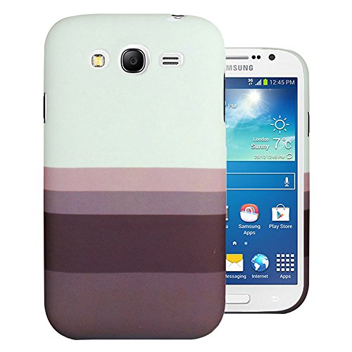 Heartly Strip Style Retro Color Armor Hybrid Hard Bumper Back Case Cover For Samsung Galaxy Grand Duos I9082 / Galaxy Grand Neo GT-I9060 / Galaxy Grand Neo Plus I9060I - Ash Brown  available at amazon for Rs.249