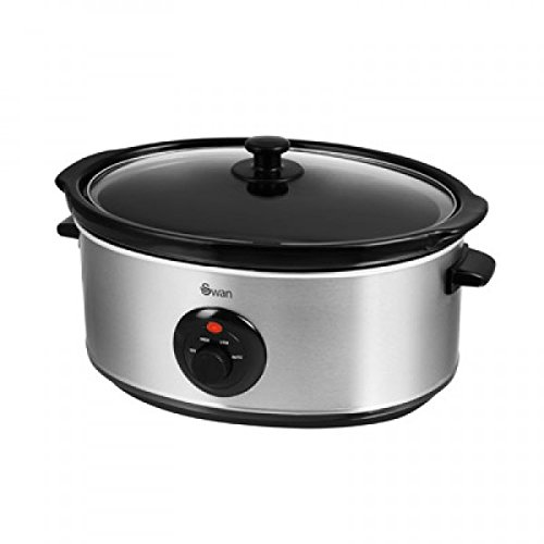 Swan SF17030N Slow Cooker - 6.5 L, Stainless Steel (08-10)