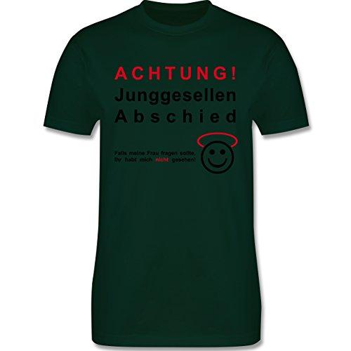 JGA Junggesellenabschied - Achtung Junggesellenabschied - Herren Premium T-Shirt Dunkelgrün