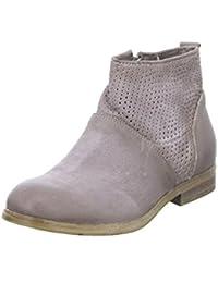MJUS 884209 Stiefelette Damen Ankle Boots Leder Malva Violet