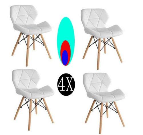 Comfortableplus Pack de 4 sillas Inspiradas en Cecilia Eiffel Millmead Silla de Comedor Blanca de Estilo Retro Silla de Comedor de Estilo Mariposa (más para niños)