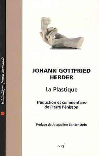 La plastique par Johann-Gottfried Herder