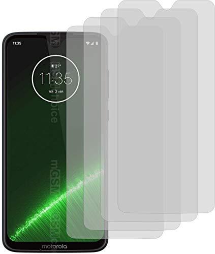 4X Crystal Clear klar Schutzfolie für Motorola Moto G7 Plus Bildschirmschutzfolie Displayschutzfolie Schutzhülle Bildschirmschutz Bildschirmfolie Folie