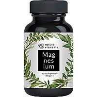 Premium Magnesiumcitrat - 2250mg davon 360mg elementares Magnesium pro Tagesdosis - 180 Kapseln - Laborgeprüft und ohne Zusätze wie Magnesiumstearat - Hochdosiert, vegan und hergestellt in Deutschland