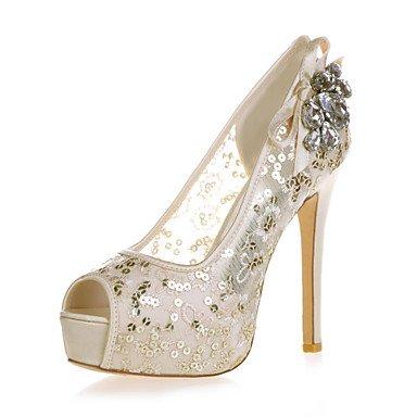 Rtry Womens Talon Shoesstiletto Peep Toe Mariages Sandales / Part & Amp; Soirée Noir / Bleu / Rose / Rouge / Ivoire / Blanc / Or Us9 / Eu40 / Uk7 / Cn41