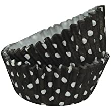 SK negro papel-moldes con lunares blancos - 36 pcs