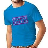 N4315 Männer T-Shirt Bonjour Bitches! (Medium Blau Mehrfarben)