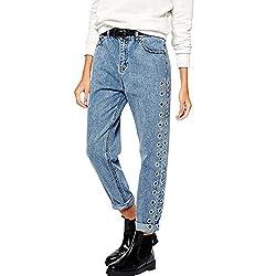 JMETRIC Damen Jeans  Jeanshose Gerade Jeans Lose Hosen Lose Jeans High-Waist Hose   Freizeithose Mit Löchern