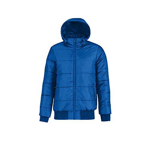 B&C Herren Superhood Bomber-Jacke, wattiert (M) (Royal Blau/Neon Orange)